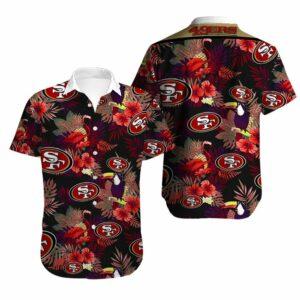 San Francisco 49ers Limited Edition Hawaiian Shirt Model 1