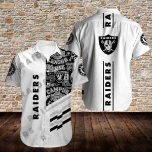 Oakland Raiders Limited Edition Hawaiian Shirt Model 5