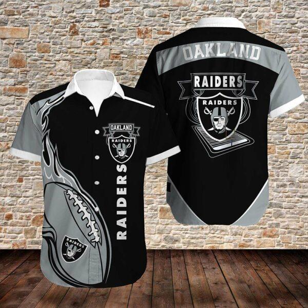 Oakland Raiders Limited Edition Hawaiian Shirt Model 4