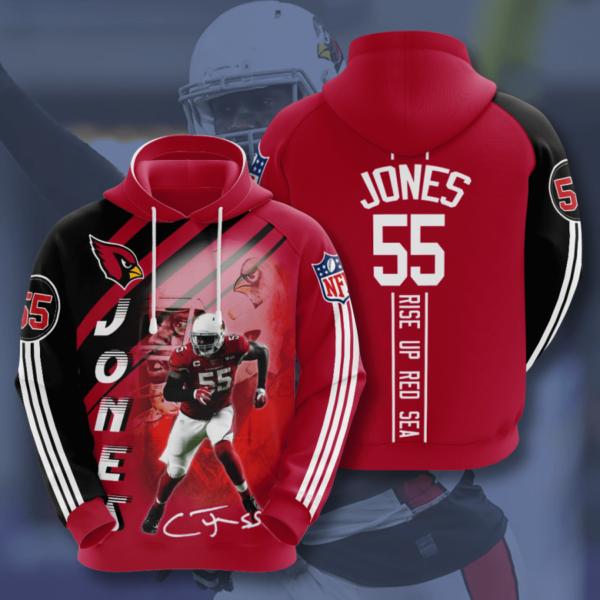 arizona cardinals chandler jones 2020 all over print shirt a unisex hoodie 3d