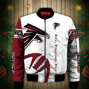 Atlanta Falcons Bomber jacket Graphic balls gift for fans