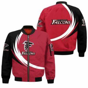 Atlanta Falcons Bomber Jacket graphic curve