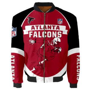 Atlanta Falcons Bomber Jacket Graphic Running men gift for fans