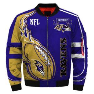 Baltimore Ravens bomber jacket Fashion winter coat gift for men