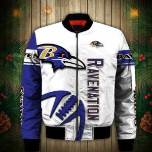 Baltimore Ravens bomber Jacket Graphic balls gift for fans
