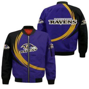 Baltimore Ravens Bomber Jacket graphic curve
