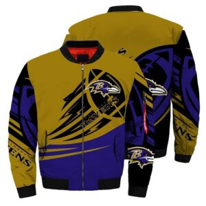 Baltimore Ravens Bomber Jacket graphic ultra-balls