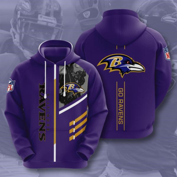 baltimore ravens hoodie 2020 3d style all overprint best gift hoodie 3d navy