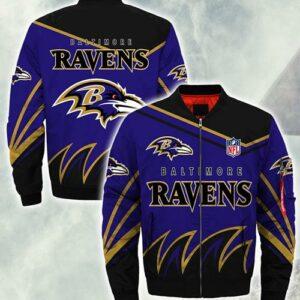 Baltimore Ravens Jacket Style #1 winter coat gift for men