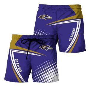 Baltimore Ravens Summer Beach Shorts Model 5
