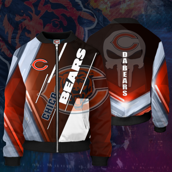 Chicago Bears CB Bomber Jacket