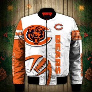 Chicago Bears Bomber Jacket Graphic balls gift for fans