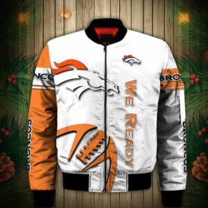 Denver Broncos Bomber Jacket Graphic balls gift for fans
