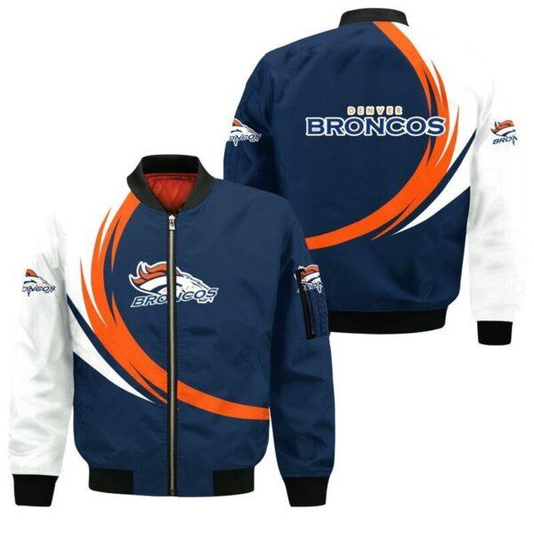 Denver Broncos Bomber Jacket graphic curve