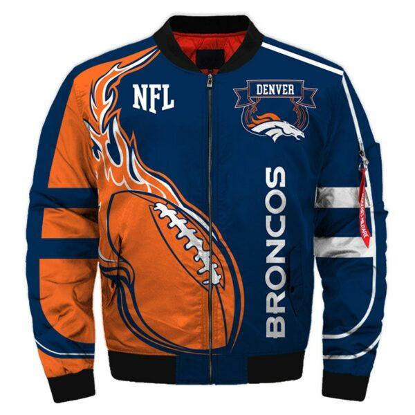Denver Broncos bomber jacket winter coat gift for men