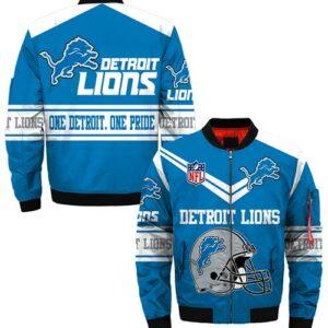 Detroit Lions Jacket bomber Jacket Style #2 winter coat gift for men