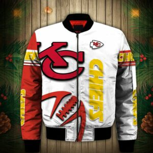 Kansas City Chiefs Bomber Jacket Graphic balls gift for fans