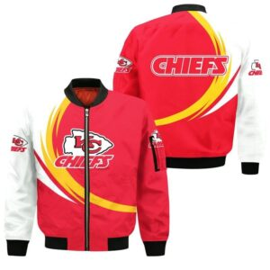 Kansas City Chiefs Bomber Jacket graphic curve