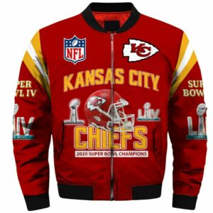 Kansas City Chiefs bomber jacket Super Bowl Champions coat gift for men