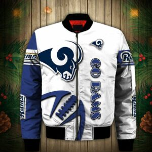 Los Angeles Rams Bomber jacket Graphic balls gift for fans