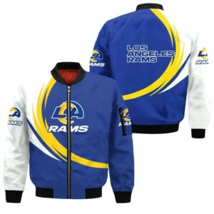 Los Angeles Rams Bomber Jacket graphic curve