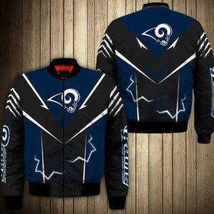 Los Angeles Rams bomber Jacket lightning graphic gift for men