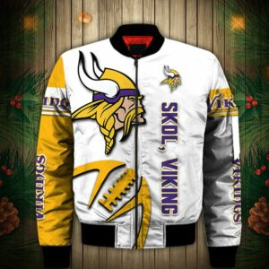 Minnesota Vikings Bomber Jacket Graphic balls gift for fans