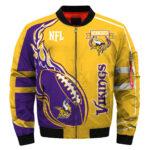 Minnesota Vikings bomber jacket winter coat gift for men