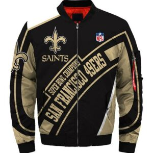 New Orleans Saints Jacket Super bowl Champions winter coat gift for men