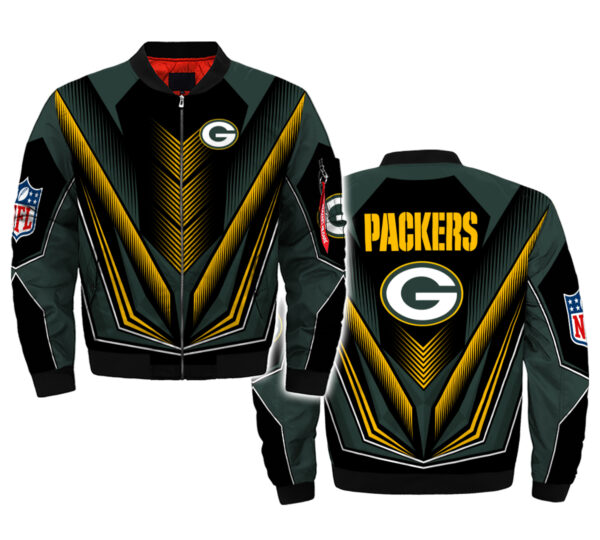 nfl green bay packers bomber jacket hoodie for fan newest design 3d bomber