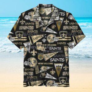 NFL New Orleans Saints Casual Hawaiian Shirt Short Sleeve