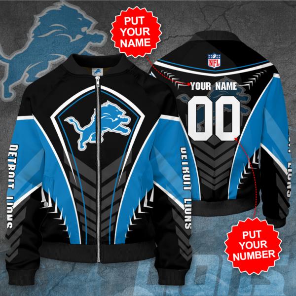 Detroit Lions Personalized DL Bomber Jacket