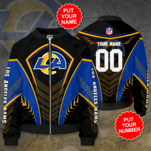 Los Angeles Rams Personalized LAR Bomber Jacket