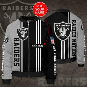 Las Vegas Raiders Personalized LVR Bomber Jacket