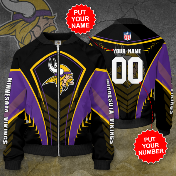 Minnesota Vikings Personalized MV Bomber Jacket