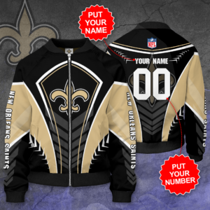 New Orleans Saints Personalized NOS Bomber Jacket
