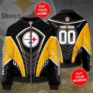 Pittsburgh Steelers Personalized PS Bomber Jacket
