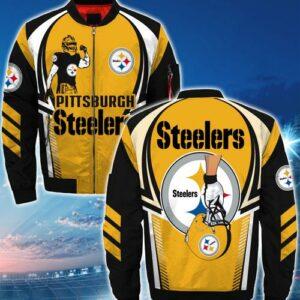 Pittsburgh Steelers bomber Jacket Style #1 winter coat gift for men