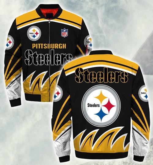 Pittsburgh Steelers bomber Jacket Style #3 winter coat gift for men