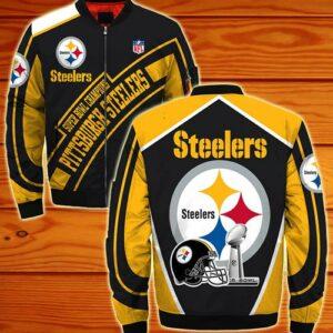 Pittsburgh Steelers bomber Jacket Super bowl Champions coat for men