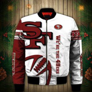 San Francisco 49ers Bomber jacket Graphic balls gift for fans