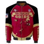San Francisco 49ers Bomber Jacket Graphic Running men gift for fans