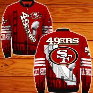 San Francisco 49ers bomber jacket Style #2 winter coat gift for men