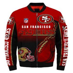 San Francisco 49ers bomber jacket winter coat gift for men