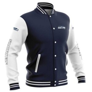 Seattle Seahawks Baseball Jacket cute Pullover gift for fans