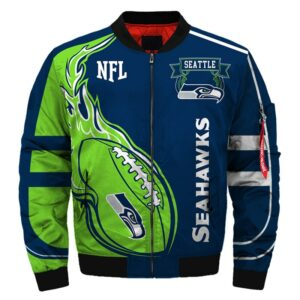 Seattle Seahawks bomber jacket Fashion winter coat gift for men