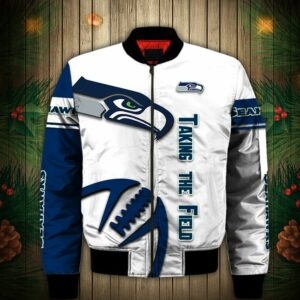 Seattle Seahawks Bomber Jacket Graphic balls gift for fans