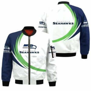 Seattle Seahawks Bomber Jacket graphic curve