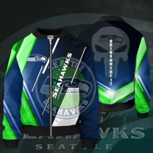 NFL Seattle Seahawks Jacket SS Bomber Jacket