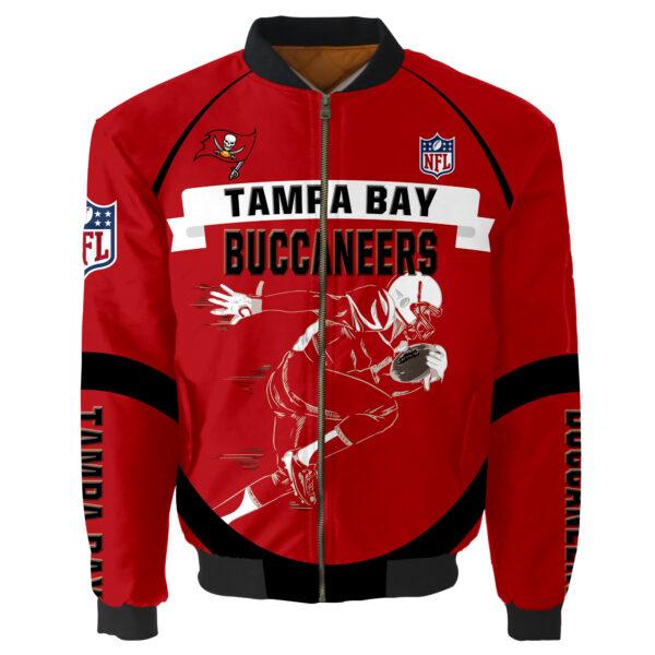 Tampa Bay Buccaneers Bomber Jacket Graphic Running men gift for fans